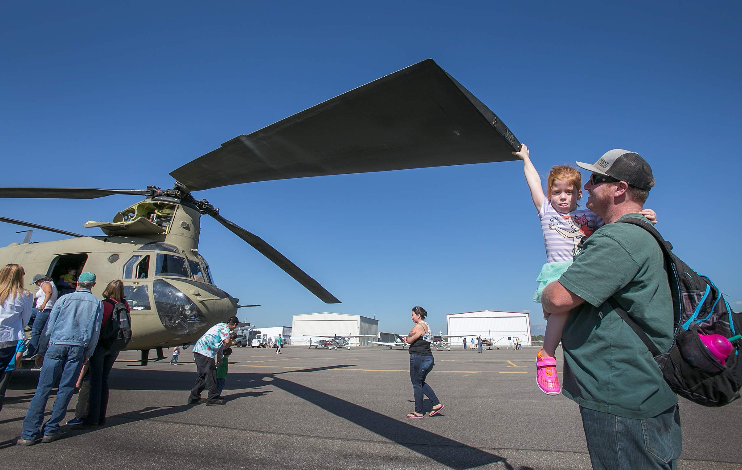 Flying machines of all kinds were on display Saturday at...